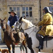 Horsemen of The Sealed Knot in English Civil War costume