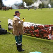 Commentating on the English Civil War re-enactment